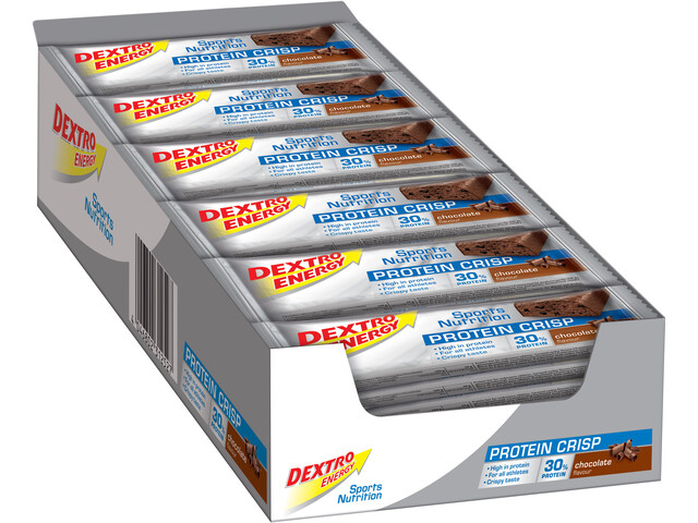 Dextro Energy Protein Crisp Box 24x50g, Chocolate